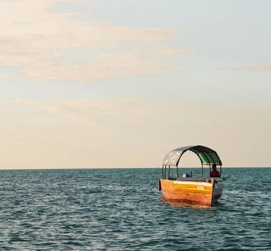 Sunset boat cruise in Michamvi